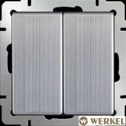Выключатель двухклавишный проходной Werkel глянцевый никель