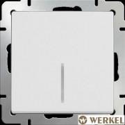 Выключатель одноклавишный с подсветкой Werkel белый