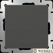 Выключатель одноклавишный проходной Werkel серо-коричневый