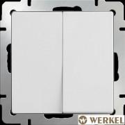 Выключатель двухклавишный проходной Werkel белый