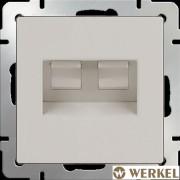 Розетка компьютерная двойная 2хRJ-45 Werkel слоновая кость