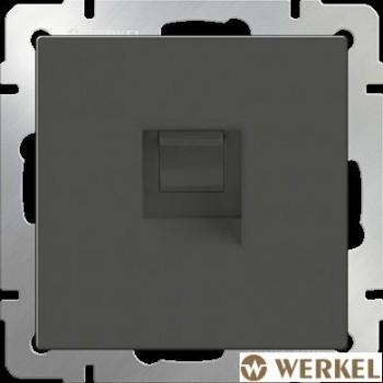 Розетка телефонная RJ-11 Werkel серо-коричневый