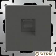 Розетка компьютерная RJ-45 Werkel серо-коричневый