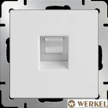 Розетка телефонная RJ-11 Werkel белый