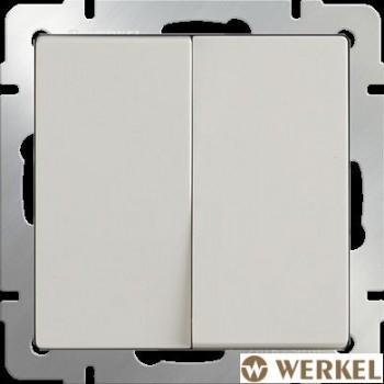 Выключатель двухклавишный проходной Werkel слоновая кость