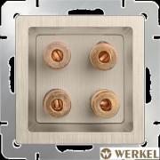Акустическая розетка Werkel шампань рифленый