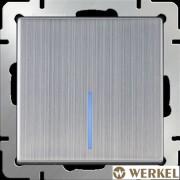 Выключатель одноклавишный с подсветкой Werkel глянцевый никель