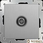 Розетка TV оконечная Werkel серебряный рифленый