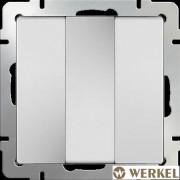 Выключатель трехклавишный Werkel белый