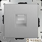 Розетка телефонная RJ-11 Werkel серебряный рифленый