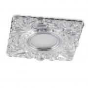 Встраиваемый светильник с LED-подсветкой Feron CD920 прозрачный, хром
