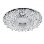 Встраиваемый светильник с LED-подсветкой Feron CD923 прозрачный, хром