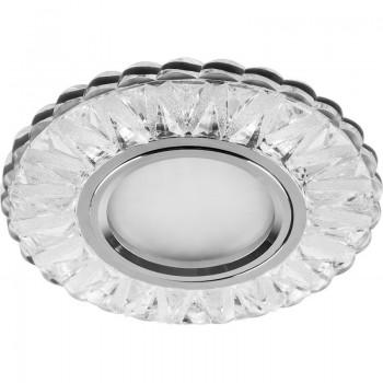 Встраиваемый светильник с LED-подсветкой Feron CD930 прозрачный, хром