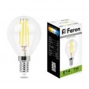 Лампа светодиодная Feron LB-52 E14 шар 7w  360*  2700k