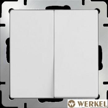 Выключатель двухклавишный Werkel белый