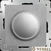 Диммер (светорегулятор) Werkel серебряный рифленый