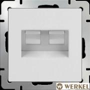 Розетка компьютер+телефон RJ-45+RJ-11 Werkel белый