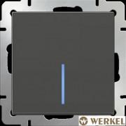 Выключатель одноклавишный с подсветкой Werkel серо-коричневый