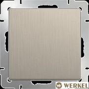 Выключатель одноклавишный проходной Werkel шампань рифленый