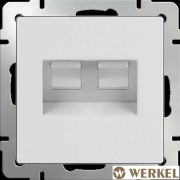 Розетка компьютерная двойная 2хRJ-45 Werkel белый