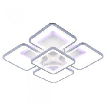 Светодиодная люстра 10005/4+1 WHT (BL+YL)